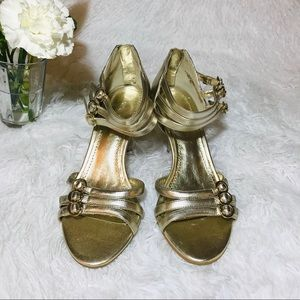 🍁Cheerful and chic Nine West™ Light gold metallic